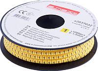 """Маркер кабельный E.NEXT - 0-1,5 кв.мм; """"1""""; 1000 шт"""