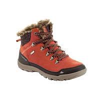 Ботинки женские, сапоги зимние Quechua ARPENAZ 500 HIGH WARM оранжевые