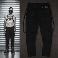 Гетто swag штаны с подтяжками и ремнями Dope Chef