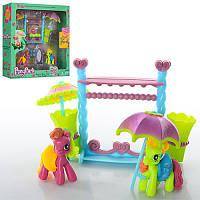 Мебель 2385 My little ponyвешалка, зонты 2 шт, зеркало, лошадки 2 шт, 5 см