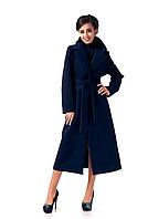 Пальто кашемировое на подкладке оптом. Модель ПЛ003_синий., фото 1