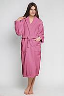 Халат махровый розовый L/XL хлопок 100%