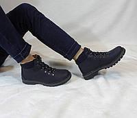 Мужские кожаные зимние ботинки на шерсти UNCIA