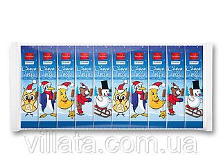 Шоколадный набор фигурки Санта клаус на палочке 10шт. Новогодние сладости Favorina