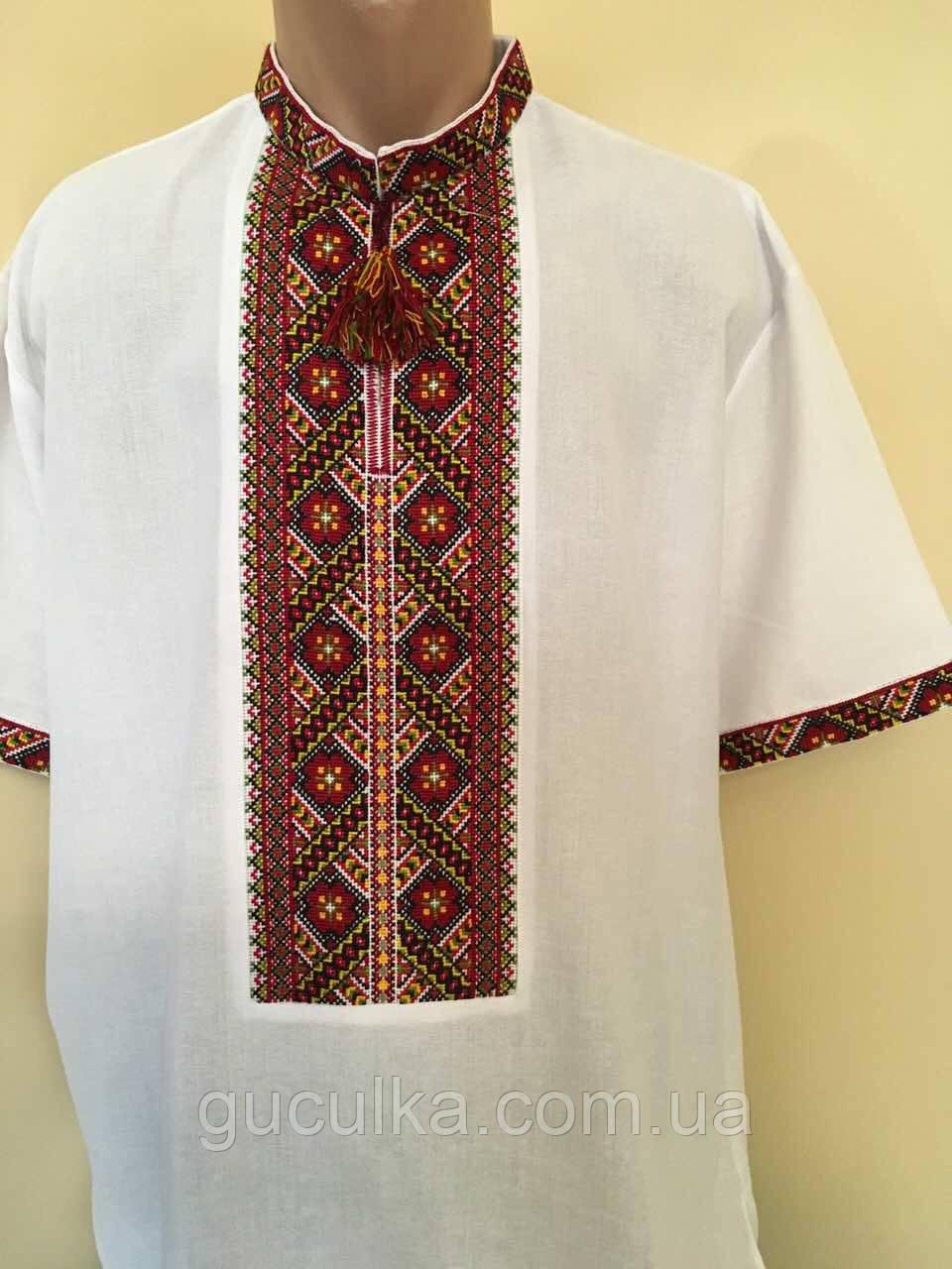 Літня вишита сорочка чоловіча ручної роботи 54-56 розмір - Інтернет-магазин