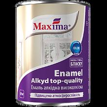 Эмаль алкидная высококачественная по металлу и дереву Maxima (синяя) 0.9л