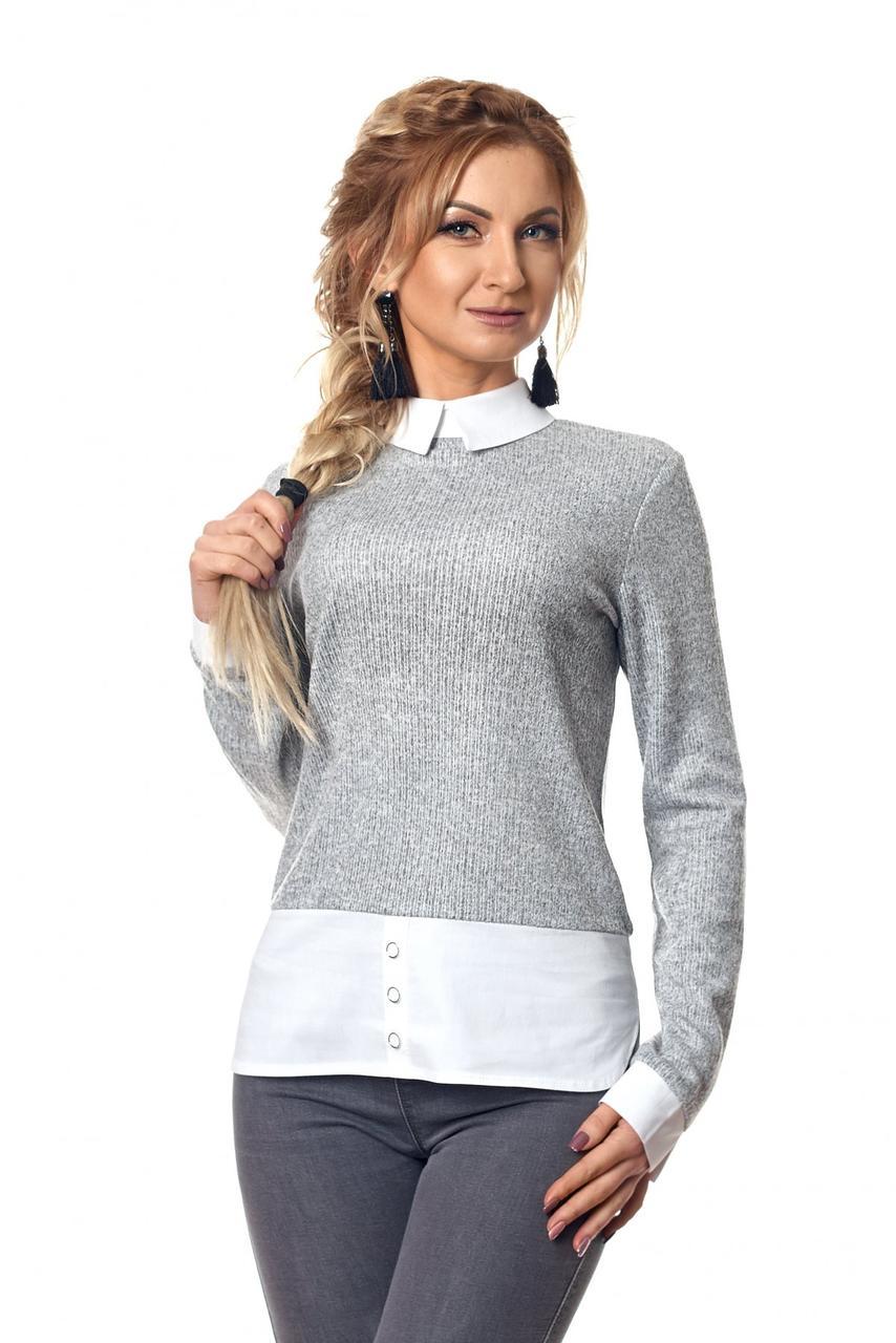 40c550d656e Женская трикотажная кофта-рубашка  продажа