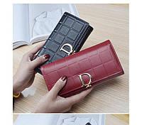 Стильный вместительный женский кошелек Dior