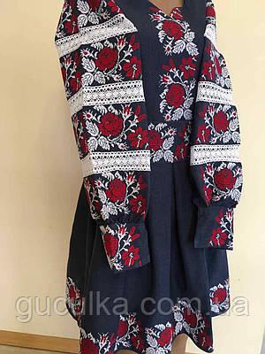 Вишита сукня дизайнерська робота натуральний льон розмір 44 (М ... b2fd6d935a3c8