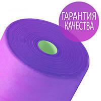 Одноразовые простыни в рулонах 0,8х100 метров 20 мкм/м2, медицинские, для салонов красоты, фиолетовые