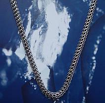 Срібний ланцюжок, 600мм, 23 грама, плетіння Пітон, чорніння, фото 3
