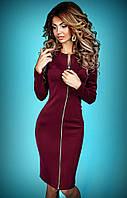 Платье на молнии Tiffany бордовое