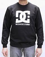 Свитшот DC Shoes Skate черный с лого, унисекс (мужской, женский, детский)
