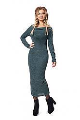 Длинное платье с воротником