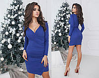 Асимметрическое замшевое платье с декольте
