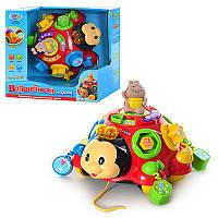 Логическая развивающая музыкальная игрушка-сортер Божья коровка 957: фигуры, звуки, цвета, цифры