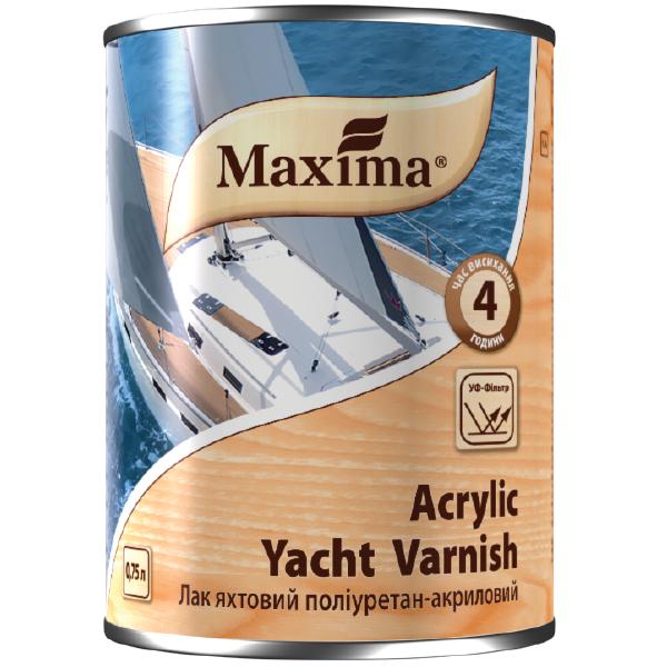 ЛАК ЯХТНЫЙ ПОЛИУРЕТАН - АКРИЛОВЫЙ Maxima Acrylic Yacht Varnish Глянцевый 2,5л