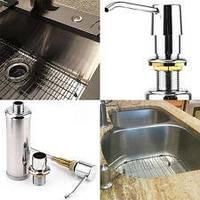 Металлический дозатор жидкого мыла для кухонной мойки врезной