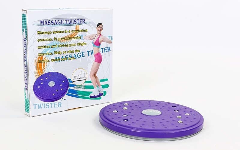 Диск здоров'я масажний з магнітами Грація d-25см PS 702-10 TWISTER
