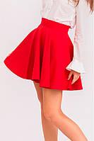 Школьная юбка солнце красная