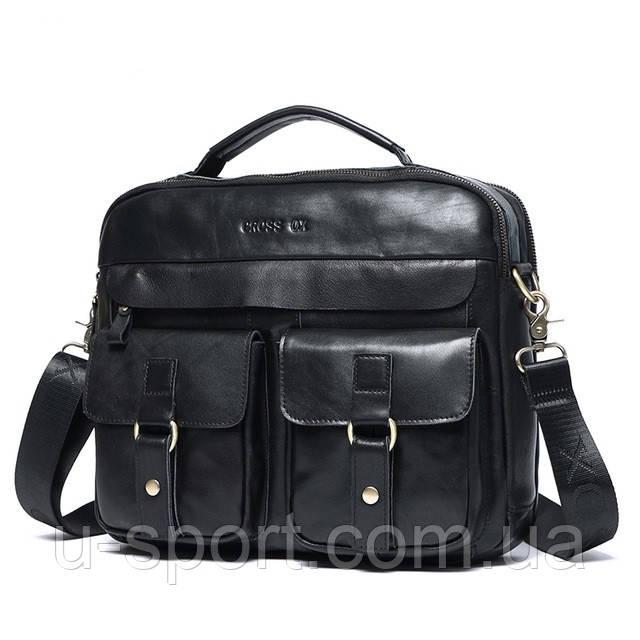 07e4692066a6 Мужская кожаная сумка Ox Bag Soft (чёрная, натуральная кожа) -  Интернет-магазин