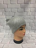 Вязаные шапки женские с лазерным покрытием
