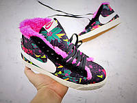 Кроссовки Nike Blazer зимние с мехом найк блейзер реплика