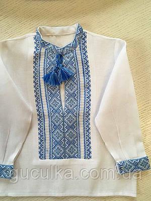 Сорочка біла вишита на домотканому полотні для хлопчика на 1-2 роки ... 3e2107ac9d933