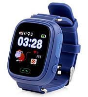 Умные детские часы с GPS трекером Smart Baby Watch Q100 Синие
