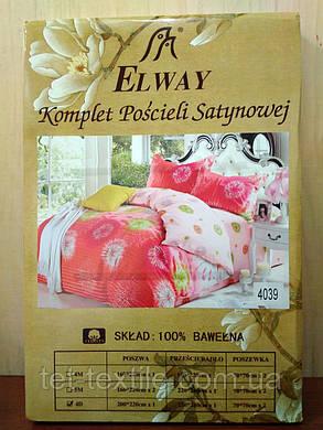 """Комплект постельного белья Elway """"Евро"""" 4039, фото 2"""