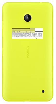 Задняя крышка Nokia 630 Lumia Dual Sim, 635 Lumia, желтая, с боковыми кнопками, фото 2
