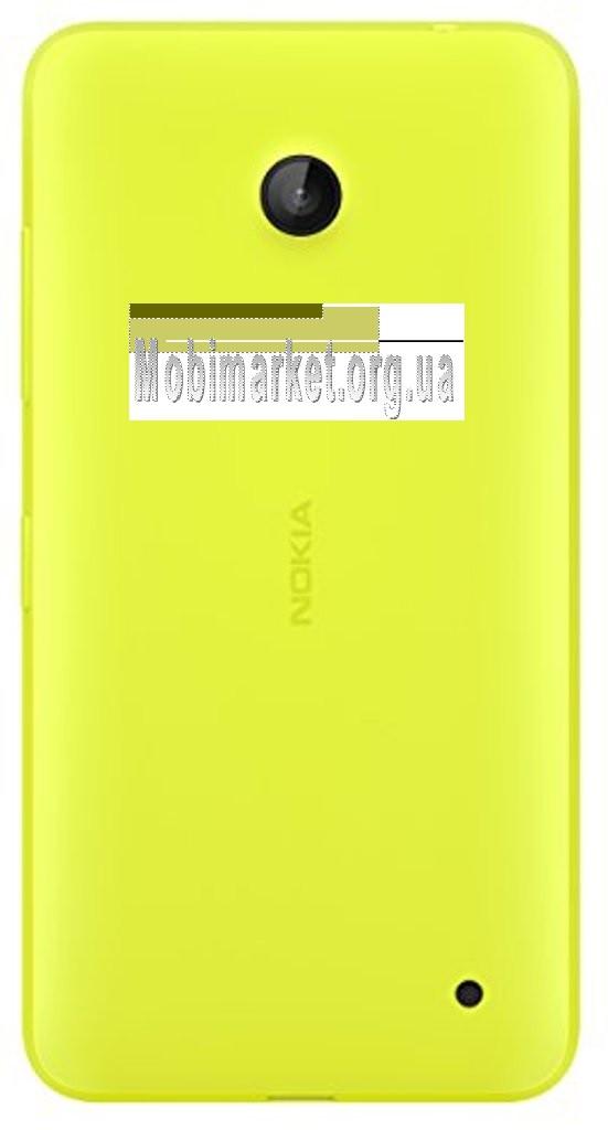 Задняя крышка Nokia 630 Lumia Dual Sim, 635 Lumia, желтая, с боковыми кнопками