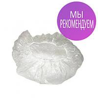 Одноразовые шапочки, полиэтилен, шарлотки, на резинке Polix 100 шт прозрачные