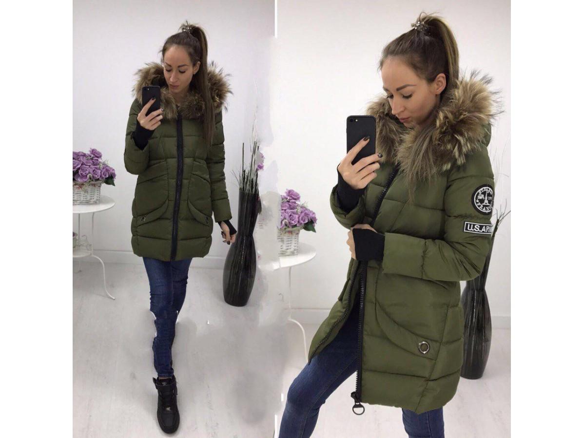 Женская зимняя пальто-куртка Аляска 780 - Web-покупки УСПЕХ - Модная одежда  оптом fa29be2da8a2a