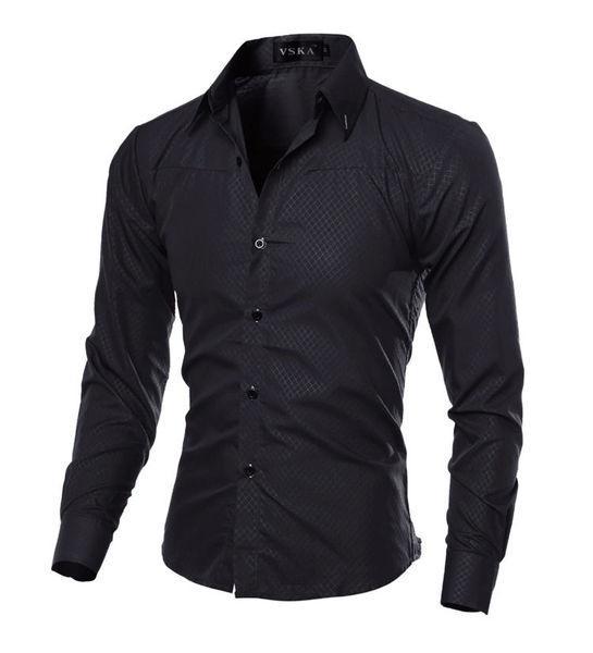 Сорочка в британксом стилі довгий рукав M-XL, чорна код 1