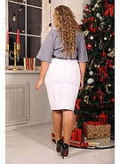 Женская элегантная блуза Лидс цвет серый / размер 48-72, фото 2