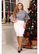 Женская элегантная блуза Лидс цвет серый / размер 48-72, фото 3