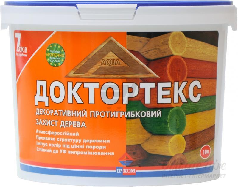 Деревозащитный антисептик ИРКОМ Доктортекс IP-013 (олива) 10л