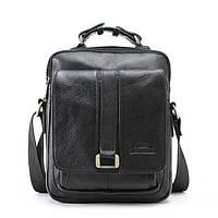 Мужская кожаная сумка Ox Bag Mini (чёрная, натуральная кожа)