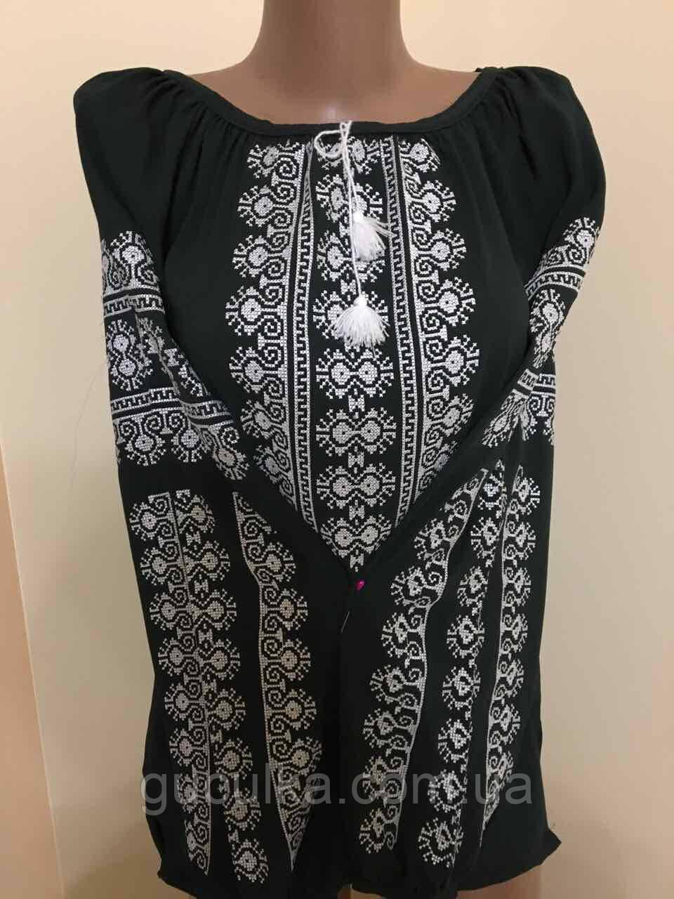 aae72d4d323 Блузка шифонова жіноча вишита крестиком - Інтернет-магазин