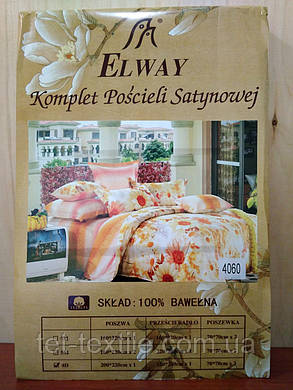 """Комплект постельного белья Elway """"Евро"""" 4060, фото 2"""