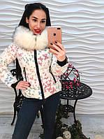 Красивая женская куртка бабочки белая и серая эффект 3Д тренд 2017 года