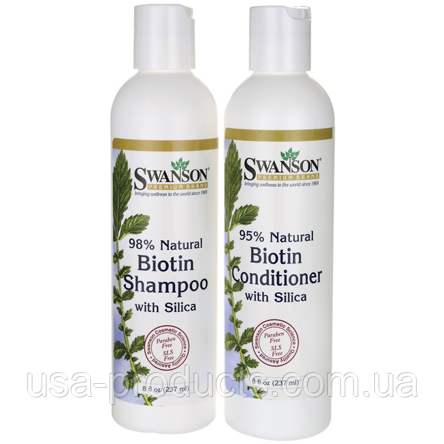 Натуральный 98% Биотин шампунь и кондиционер