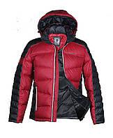 Пуховик мужской BLACK VINYL P 12-201 чёрно-красный