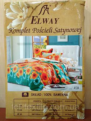 """Комплект постельного белья Elway """"Евро"""" 4134, фото 2"""
