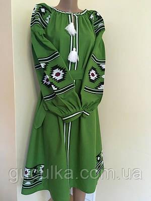 Вишита сукня на домотканому полотні в етно стилі  продажа dae8d773dd31b