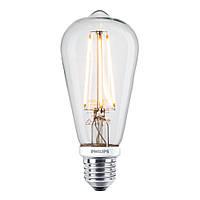Лампа Эдисона ST64 LED диммируемая Philips филамент
