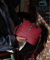 Маленькая сумка темно-красная Melani с оленем через плече
