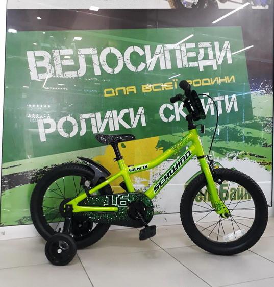 "Велосипед SCHWINN 16"" Gremlin boys 2017 салатовий/чорний SKD-57-43"