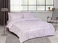 Двуспальное евро постельное белье TAC Clara Lilac Сатин